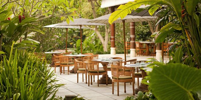Terrace Dining Area from Kemiri Restaurant at Ubud, Bali