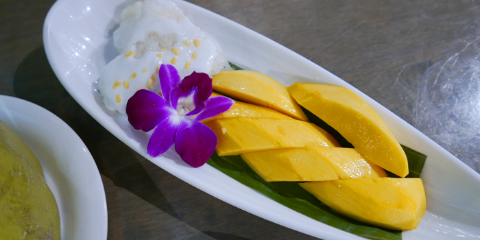 Mango Sticky Rice from The Dishes Seafood & Restaurant at 2194 Charoen Krung Rd Wat Phraya Krai, Bang Kho Laem Bangkok