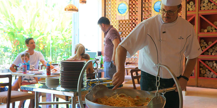 Chef from Prego at Nusa Dua, Bali