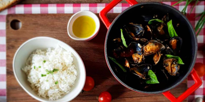 Provence Style Mussels from Oskar Bistro in Sukhumvit Soi 11, Bangkok