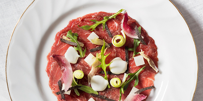 Rangers Valley Wagyu Carpaccio from The White Rabbit serving Modern European cuisine in Dempsey, Singapore