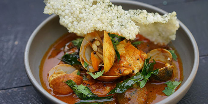 Clam & Snapper Rasam of Sarong Bali
