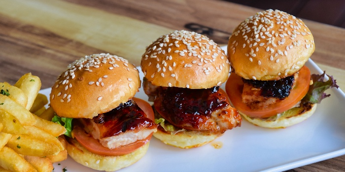 Grilled Chicken Sliders from Cheval Cafe Bar Bistro at Singapore Turf Club Riding Centre in Woodlands, Singapore