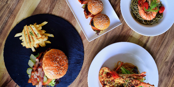 Food Spread from Cheval Cafe Bar Bistro at Singapore Turf Club Riding Centre in Woodlands, Singapore