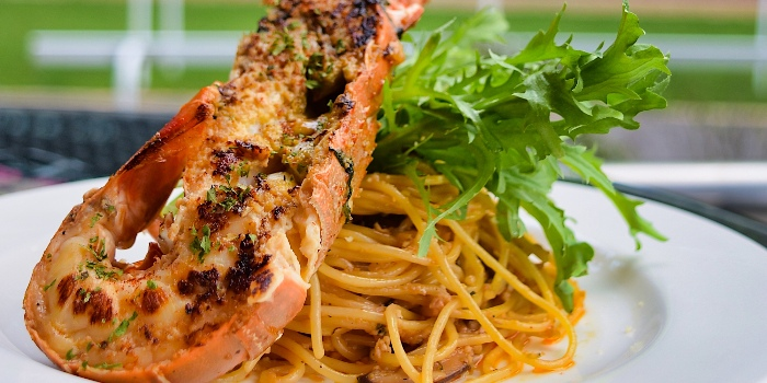 Lobster Aglio Olio Spaghetti from Cheval Cafe Bar Bistro at Singapore Turf Club Riding Centre in Woodlands, Singapore