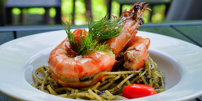 Squid Ink Spaghetti from Cheval Cafe Bar Bistro at Singapore Turf Club Riding Centre in Woodlands, Singapore