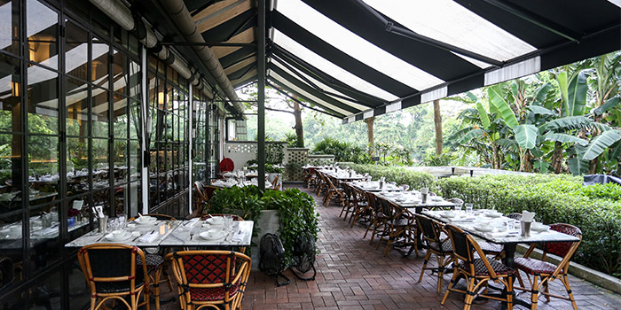 Outdoor Seating of Chopsuey Cafe Dempsey in Dempsey, Singapore