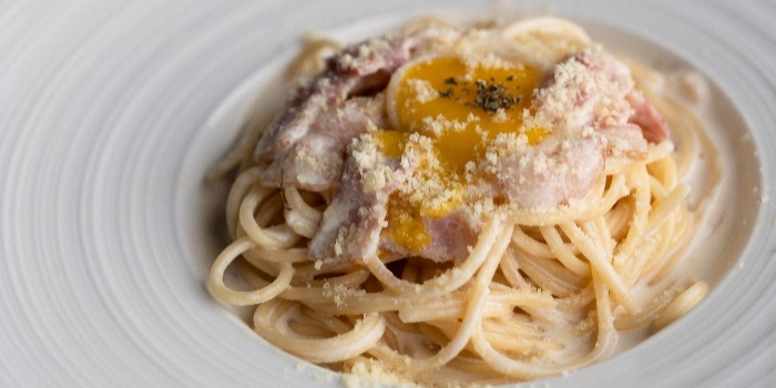 Bacon Carbonara from Fusion Kitchen & Bar at The Punggol Settlement in Punggol, Singapore