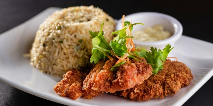 Chicken Cutlet Fried Rice from Fusion Kitchen & Bar at The Punggol Settlement in Punggol, Singapore