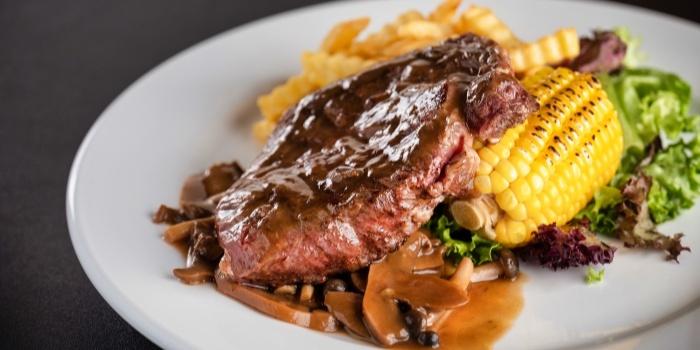 Ribeye Beef Steak from Fusion Kitchen & Bar at The Punggol Settlement in Punggol, Singapore