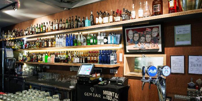 Bar Display of Gem Bar in Club Street, Singapore