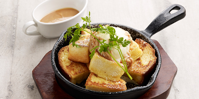 Fresh Caramel & Hokkaido Vanilla Ice Cream French Toast from Hoshino Coffee (Capitol Piazza) in City Hall, Singapore