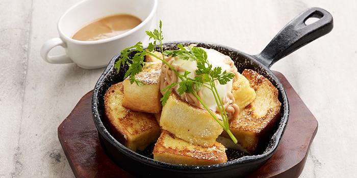 Fresh Caramel & Hokkaido Vanilla Ice Cream French Toast from Hoshino Coffee (Chinatown Point) in Chinatown Point in Chinatown, Singapore