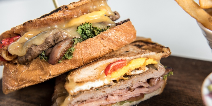 Chivito With Striploin Steak, Pancetta, Smoaked Ham,  Aioli In Toasted Sourdough from Jones the Grocer in Dempsey, Singapore