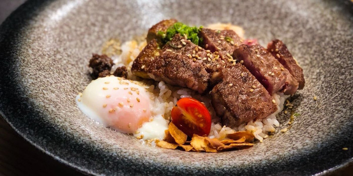 Wagyu Beef and Rice from Jun Omakase in Raffles Place, Singapore