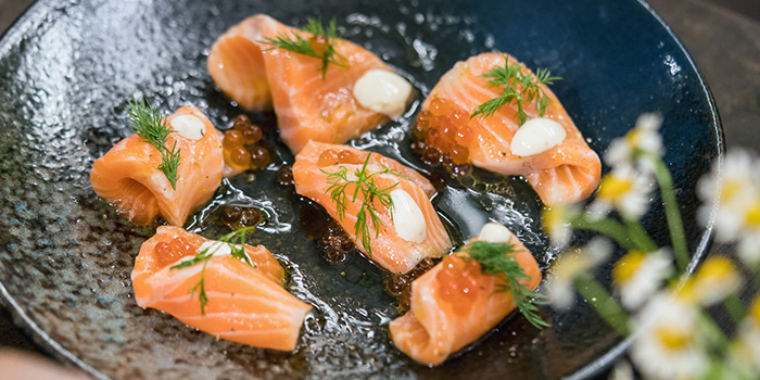 Salmon Sashimi from JYPSY on Martin Road in Robertson Quay, Singapore