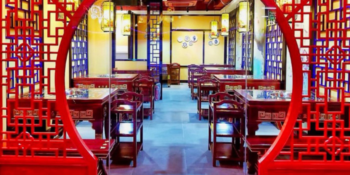 Interior of Li Xiang Lan Hotpot in Chinatown, Singapore