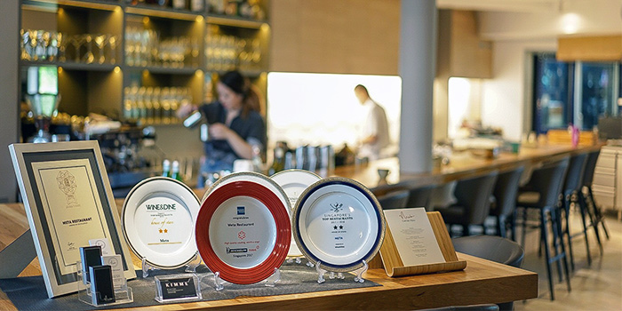 1 Michelin Star (2017 & 2018) from Meta Restaurant in Chinatown, Singapore