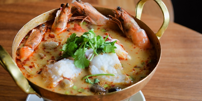 Tom Yum Soup Pot from Mooks Thai Bistro at Hometeam NS Clubhouse in Bukit Batok, Singapore