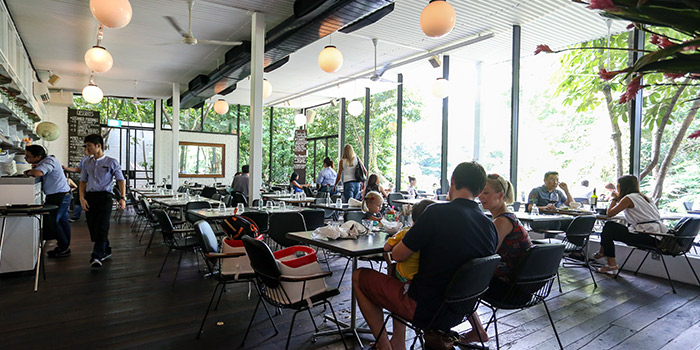 Interior of PS.Cafe Harding in Dempsey, Singapore