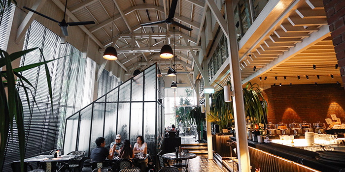 Interior of PS.Cafe Palais Renaissance at Palais Renaissance in Orchard, Singapore