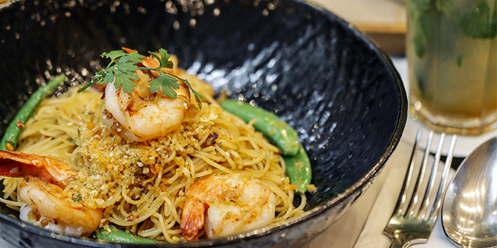 Spicy King Prawn Aglio Olio from PS.Cafe Paragon at The Paragon in Orchard, Singapore