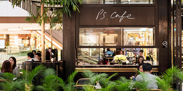 Exterior of PS.Cafe Raffles City at Raffles City Shopping Centre in City Hall, Singapore