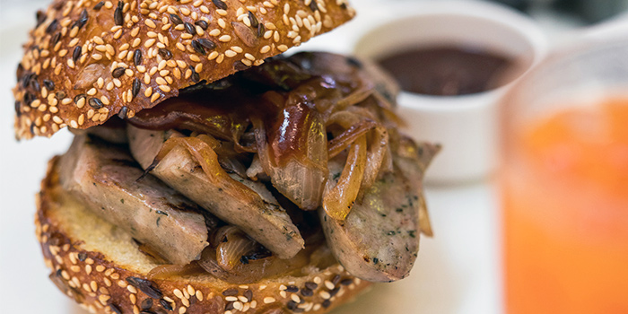 Sausage & Caramelised Onion Bunwich from PS.Cafe Raffles City at Raffles City Shopping Centre in City Hall, Singapore