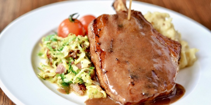 Pork Chop from Riders Cafe in Bukit Timah, Singapore