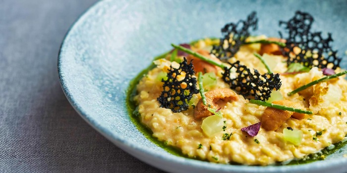 Uni Risotto from SKAI Restaurant at Swissotel the Stamford in City Hall, Singapore