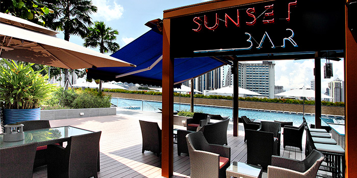 Exterior of Sunset Bar @ One Farrer Hotel in Little India, Singapore