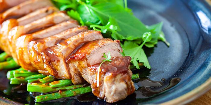 Pan Seared Sirloin Steak from The Sampan in Boat Quay, Singapore