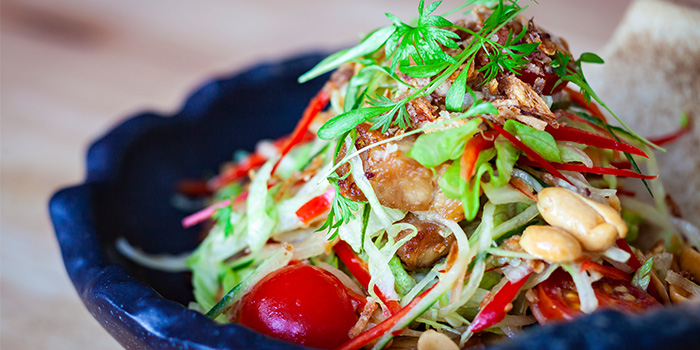 Sweet and Sour Pork Belly Salad from The Sampan in Boat Quay, Singapore