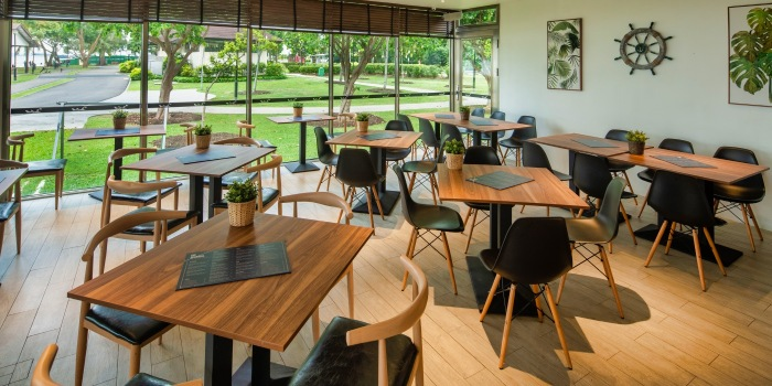 Dining Room of The Seagrill at Changi, Singapore