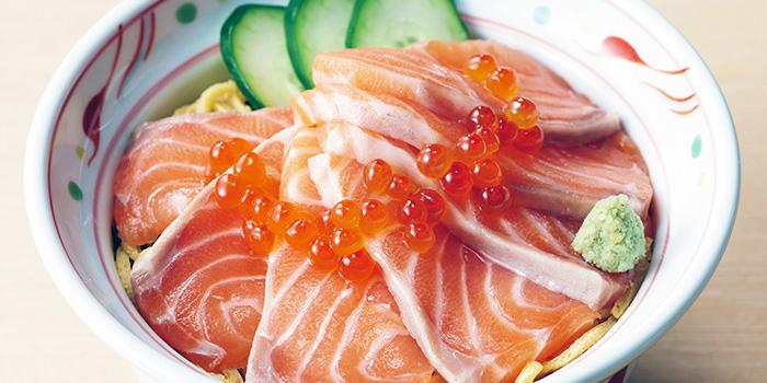 Salmon Don from YAYOI Japanese Restaurant (Star Vista) in Buona Vista, Singapore