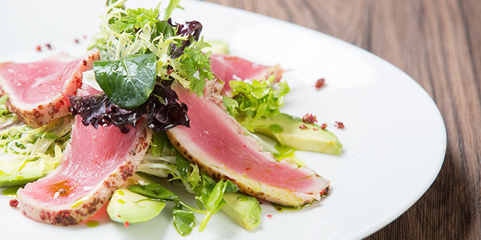 SPADA thinly sliced sushi grade tuna encrusted, Carpaccio, Tsim Sha Tsui, Hong Kong