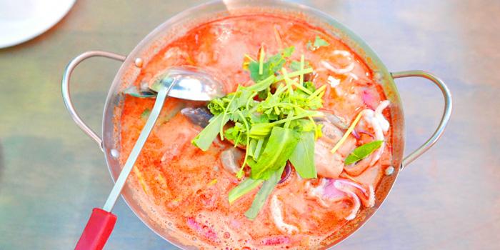 Tom Yum from The Dishes Seafood & Restaurant at 2194 Charoen Krung Rd Wat Phraya Krai, Bang Kho Laem Bangkok