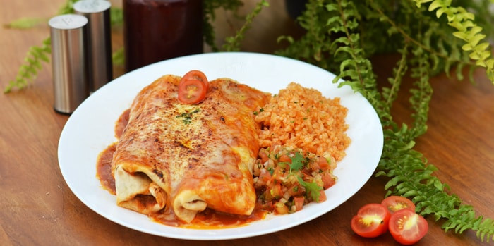 Beef Enchiladas at Rooftop at Bulungan