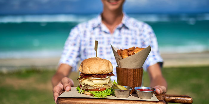Burger Menu from Roosterfish Beach Club at Uluwatu, Bali