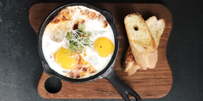 Baked  Eggs at HOURS Coffee - BBQ - Event Space