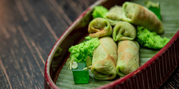 Dadar Gulung from Double Ikat Restaurant at Uluwatu, Bali