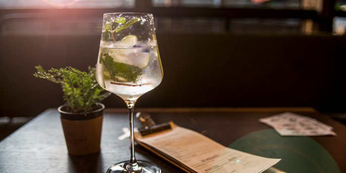 Gin Tonic from Luka Moto Cafe at TASTE Thonglor Soi 11 Sukhumvit 55, Wattana Bangkok