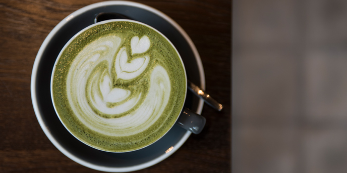 Green Tea Latte from Luka Moto Cafe at TASTE Thonglor Soi 11 Sukhumvit 55, Wattana Bangkok