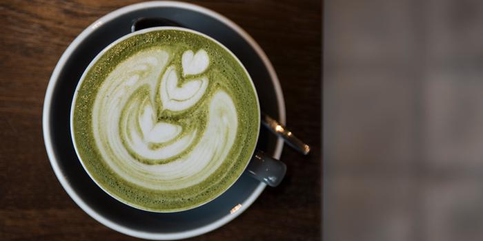 Green Tea Latte from Luka Moto Cafe at TASTE Thonglor Soi 11 Sukhumvit 55, Wattana Bangkok
