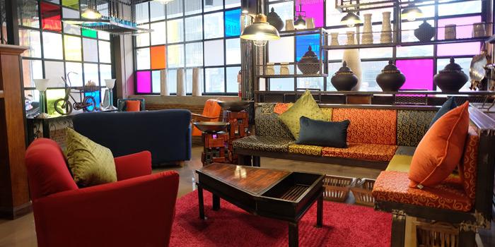 Lounge Area from Fork & Cork Bar & Restaurant at W22 Hotel 422 Mittraphan Rd., Pomprap, Pomprapsattruphai Bangkok