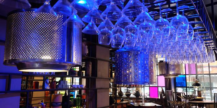 The Bar Area of Fork & Cork Bar & Restaurant at W22 Hotel 422 Mittraphan Rd., Pomprap, Pomprapsattruphai Bangkok