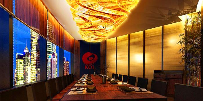 Ambience of Koi Restaurant and Lounge at 39th floor, Sathorn Square Building 98 North Sathorn Road Silom, Bangrak Bangkok