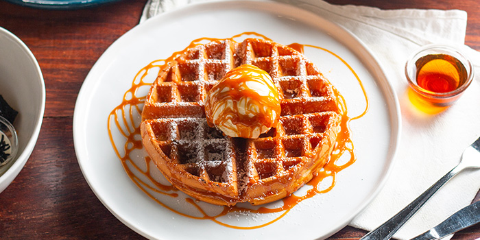 Salted Caramel Waffle from Atlas Coffeehouse in Bukit Timah, Singapore