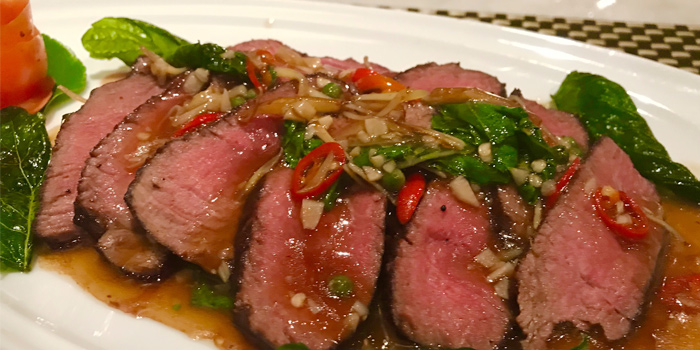 BEEF-FILLET-THAI-STYLE from Thong Dee-The Kathu Brasserie, Kathu, Phuket, Thailand
