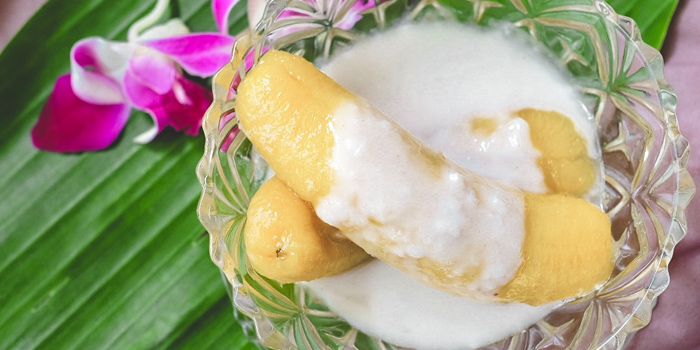 Banana in Syrup with Coconut Milk from Sansumran at 185/3 Soi Sukhumvit 31(Sawasdee)  Klong Tan Nuea, Wattana Bangkok